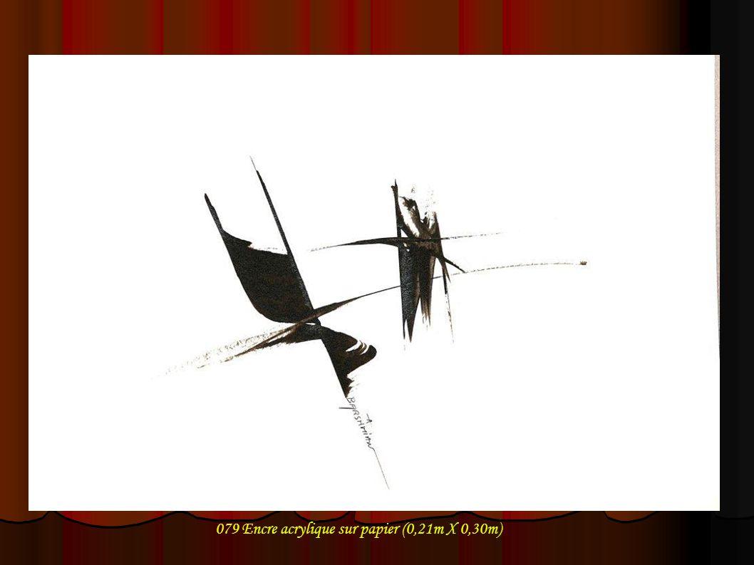079 Encre acrylique sur papier (0,21m X 0,30m)