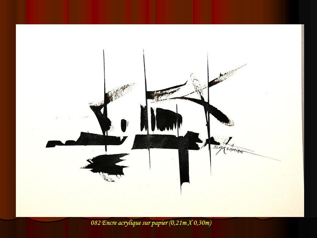 082 Encre acrylique sur papier (0,21m X 0,30m)