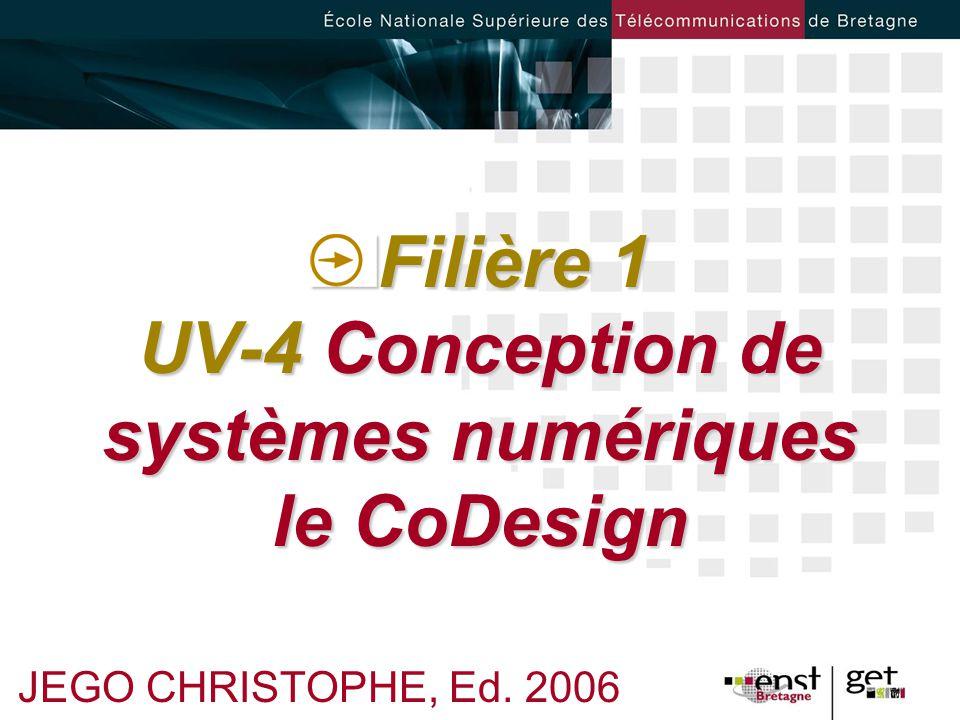 Filière 1 UV-4 Conception de systèmes numériques le CoDesign JEGO CHRISTOPHE, Ed. 2006