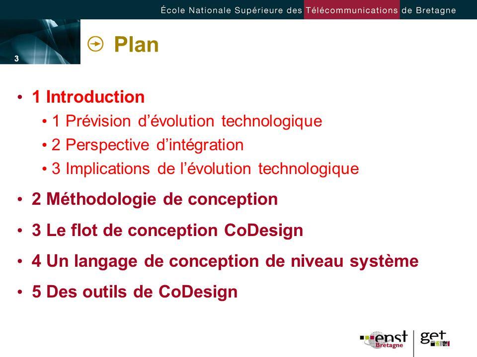 - 3 -- 3 - Plan 1 Introduction 1 Prévision dévolution technologique 2 Perspective dintégration 3 Implications de lévolution technologique 2 Méthodolog