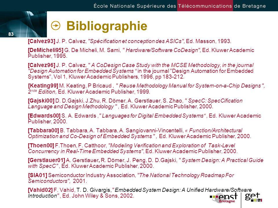 - 83 - Bibliographie [Calvez93] J. P. Calvez,