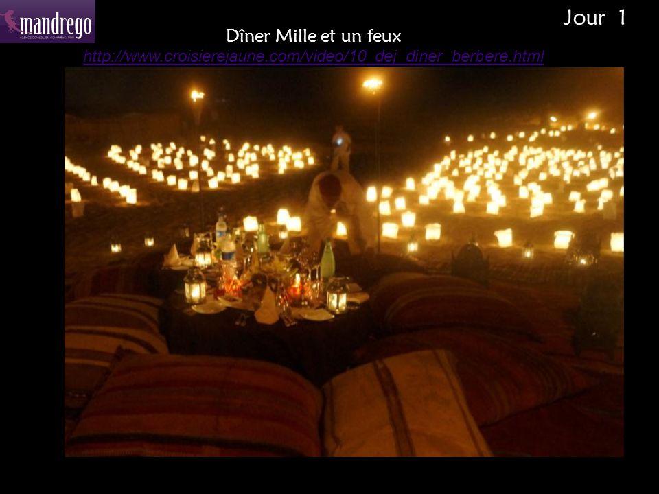 Dîner Mille et un feux http://www.croisierejaune.com/video/10_dej_diner_berbere.html Jour 1