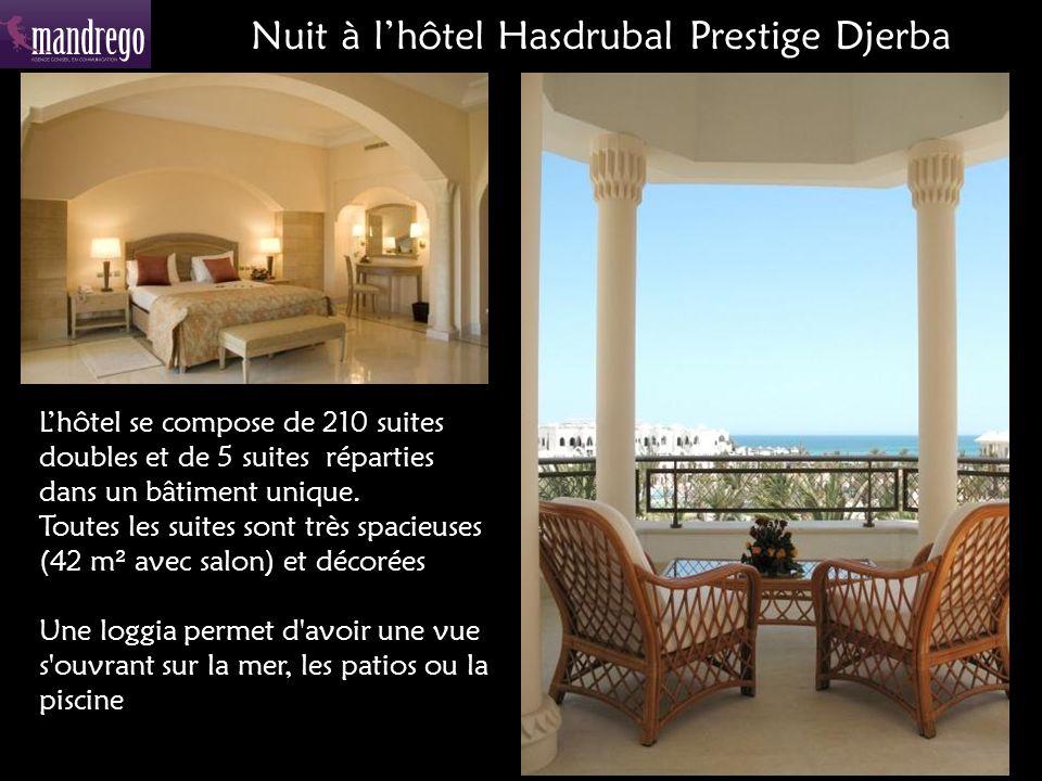 Lhôtel se compose de 210 suites doubles et de 5 suites réparties dans un bâtiment unique.