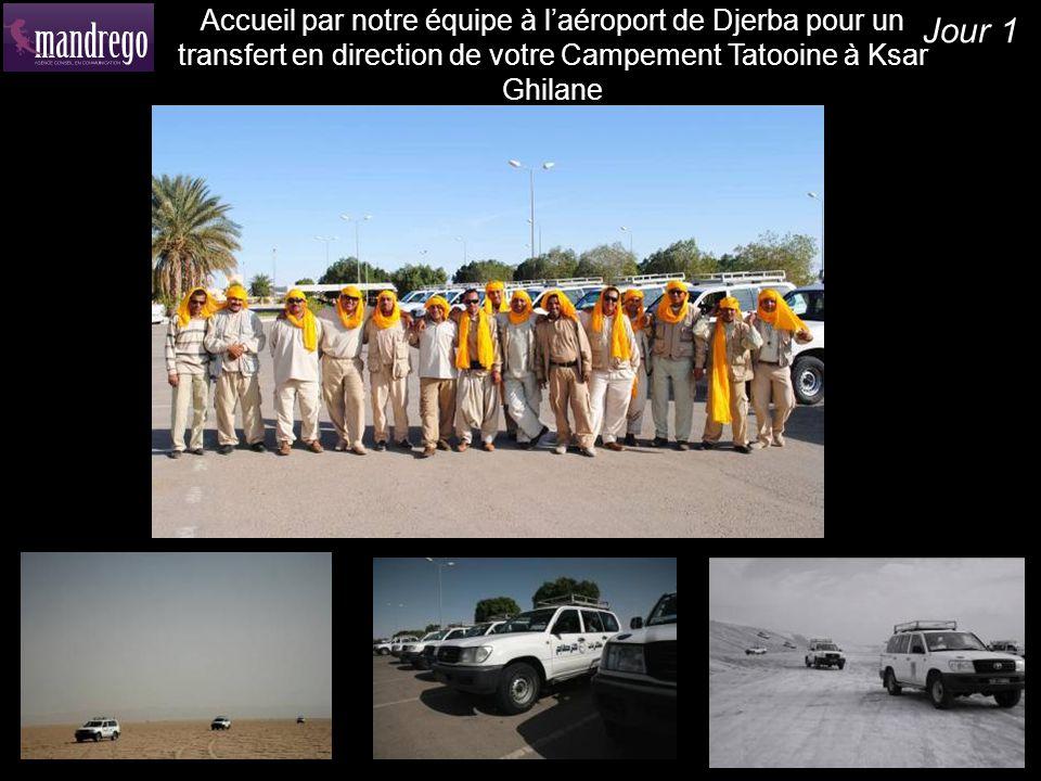 Jour 1 Accueil par notre équipe à laéroport de Djerba pour un transfert en direction de votre Campement Tatooine à Ksar Ghilane