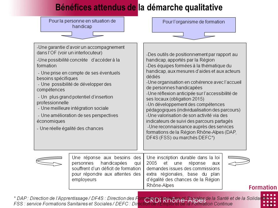 CRDI Rhône-Alpes * DAP : Direction de lApprentissage / DF4S : Direction des Formations Sanitaires et Sociales de la Santé et de la Solidarité / FSS :