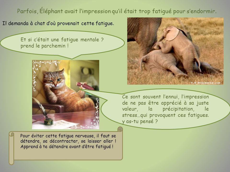 Parfois, Éléphant avait limpression quil était trop fatigué pour sendormir.