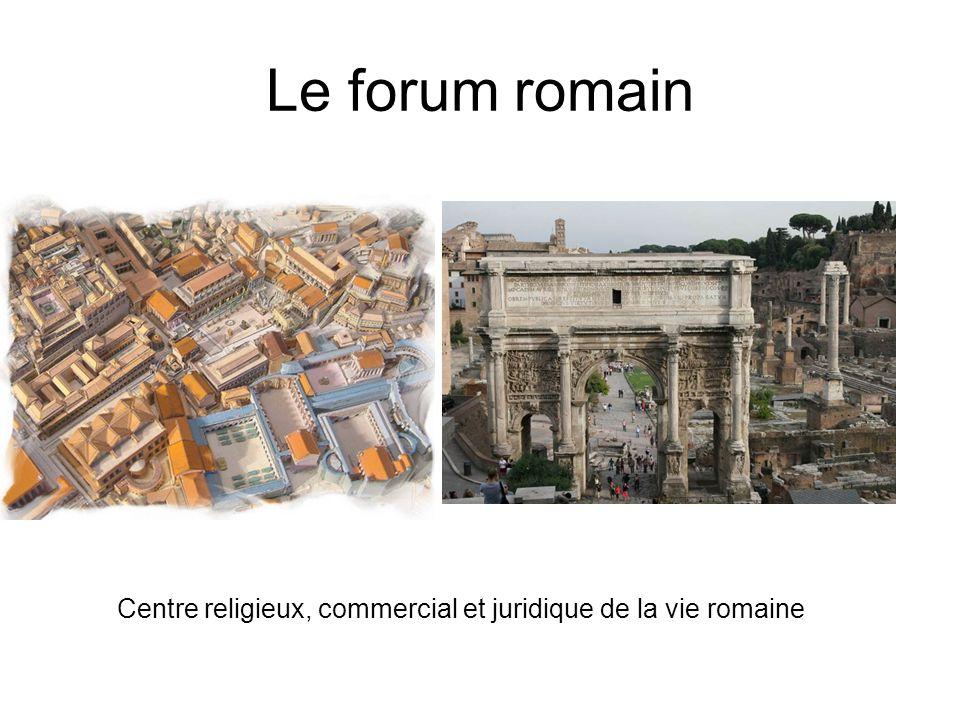 Le forum romain Centre religieux, commercial et juridique de la vie romaine