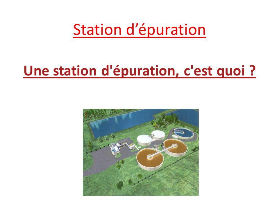 Une station d épuration est une usine de dépollution des eaux usées avant leur rejet au milieu naturel, en général dans une rivière.