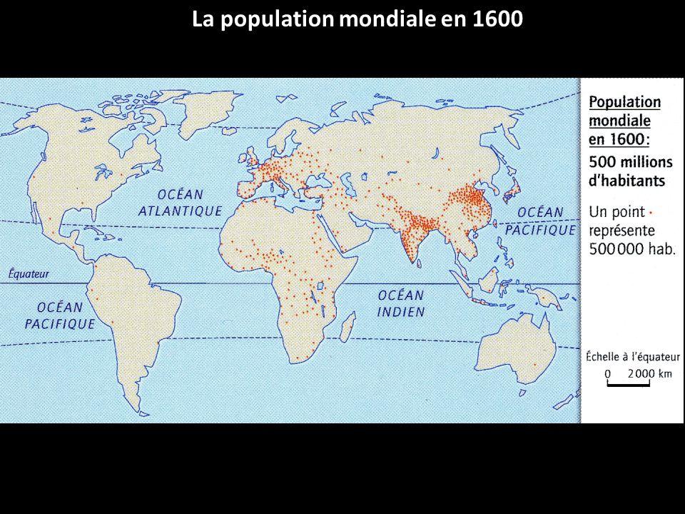 La population mondiale en 1600