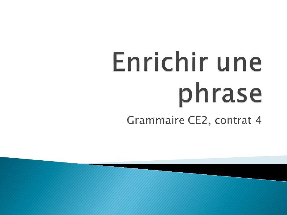 Grammaire CE2, contrat 4