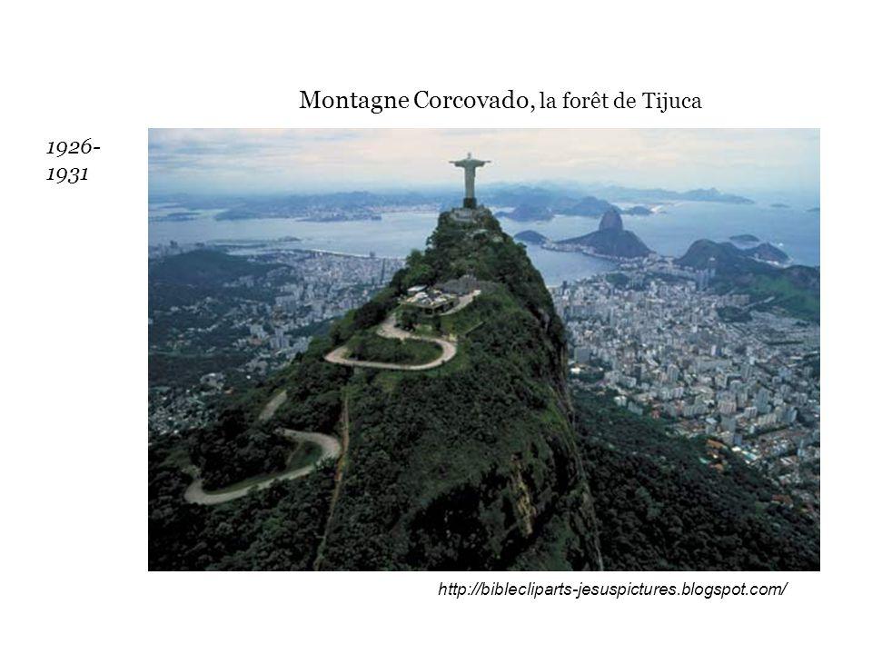 http://biblecliparts-jesuspictures.blogspot.com/ Montagne Corcovado, la forêt de Tijuca 1926- 1931