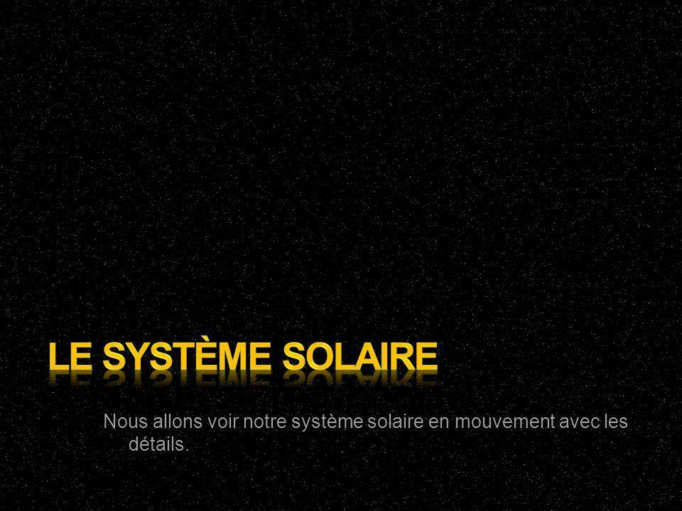 Nous allons voir notre système solaire en mouvement avec les détails.