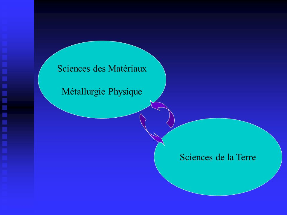 Sciences des Matériaux Métallurgie Physique Sciences de la Terre