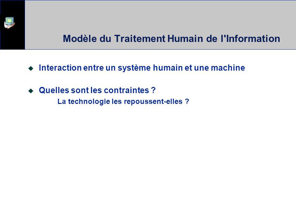 Hutchins, Hollan & Norman, 1986 Engagement direct Exécution et évaluation se font directement Input et output font références lun à lautre Système rép