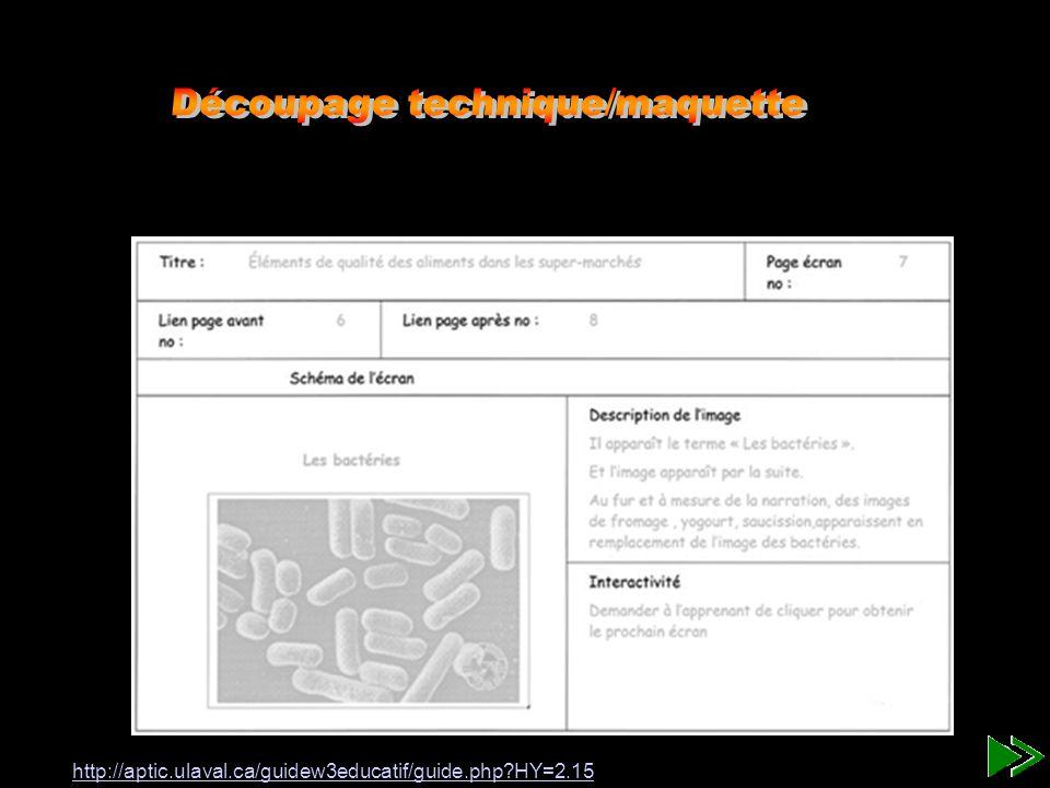 Storyboard Description de la page - titre: - Sous-titre (facultatif): - Fonds: - images: c:/corpshumain/Images/cœur.gif - Sites internet: http://www.uqam.ca - son-musique: - transition: - boutons d action: flèche vers la 2ième diapositive - Courrier électronique: Ce que fait lutilisateur ou linteracteur Schéma-Image Écran no# 1 - Faire un dessin de ce qui appraîtra sur l écran TEXTE :