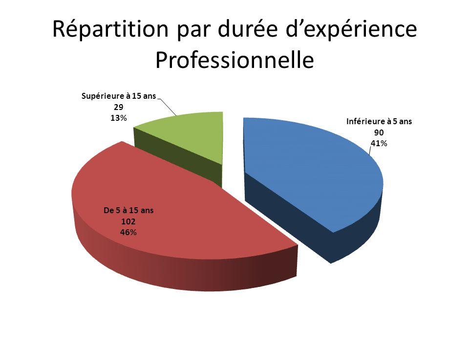 Répartition par durée dexpérience Professionnelle