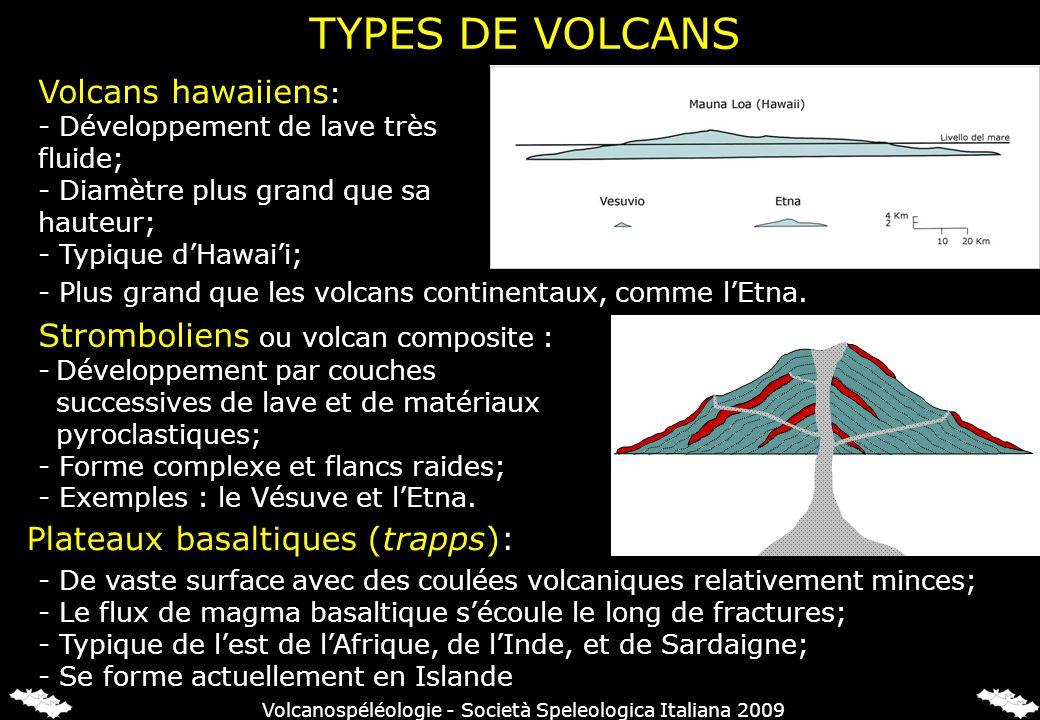 TYPES DE VOLCANS Volcans hawaiiens : - Développement de lave très fluide; - Diamètre plus grand que sa hauteur; - Typique dHawaii; - Plus grand que le