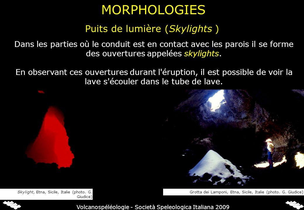 Puits de lumière (Skylights ) MORPHOLOGIES Grotta dei Lamponi, Etna, Sicile, Italie (photo. G. Giudice)Skylight, Etna, Sicile, Italie (photo. G. Giudi