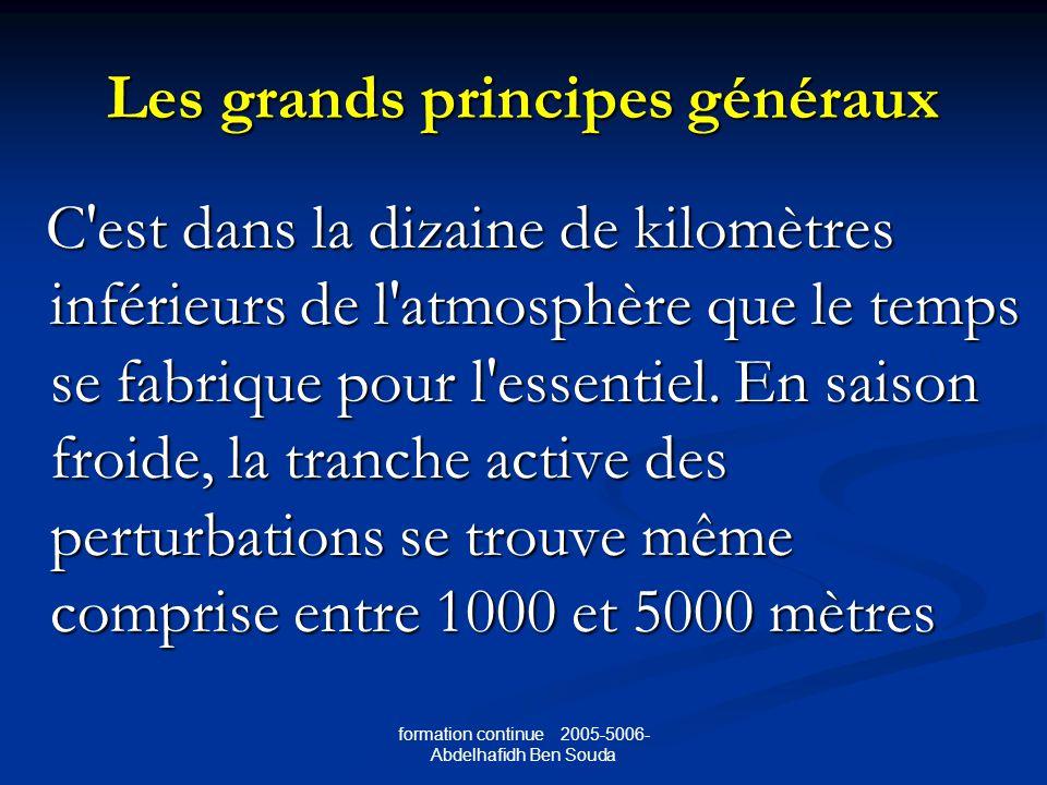 Les grands principes généraux C est dans la dizaine de kilomètres inférieurs de l atmosphère que le temps se fabrique pour l essentiel.