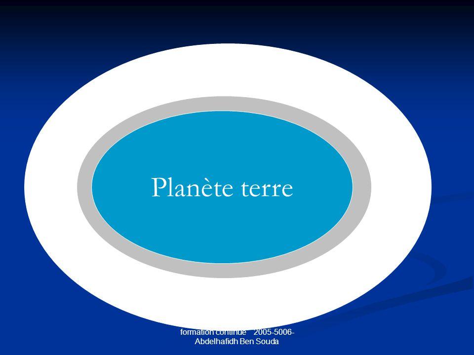 formation continue 2005-5006- Abdelhafidh Ben Souda Planète terre