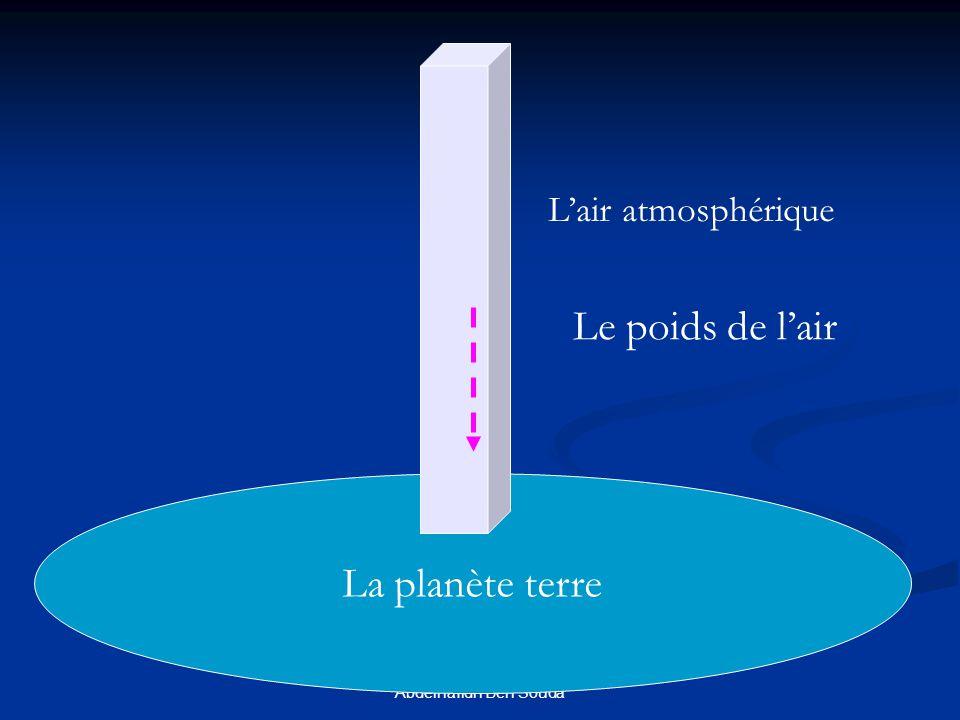 formation continue 2005-5006- Abdelhafidh Ben Souda La planète terre Lair atmosphérique Le poids de lair