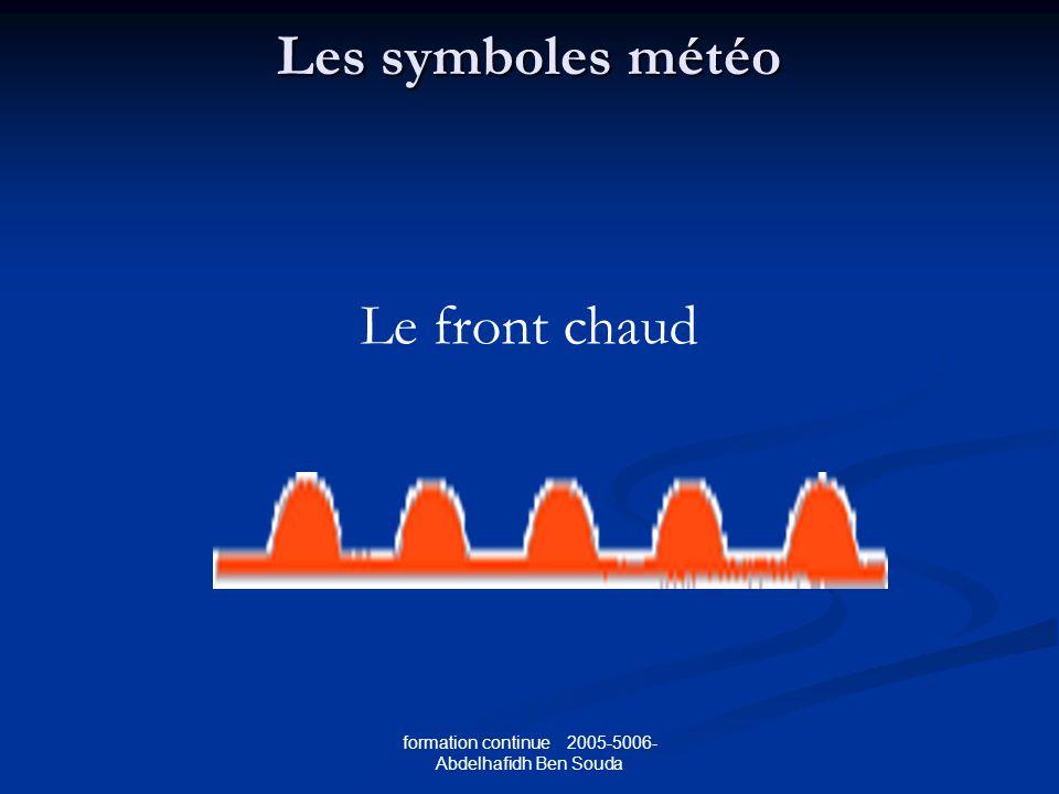 Les symboles météo Le front chaud