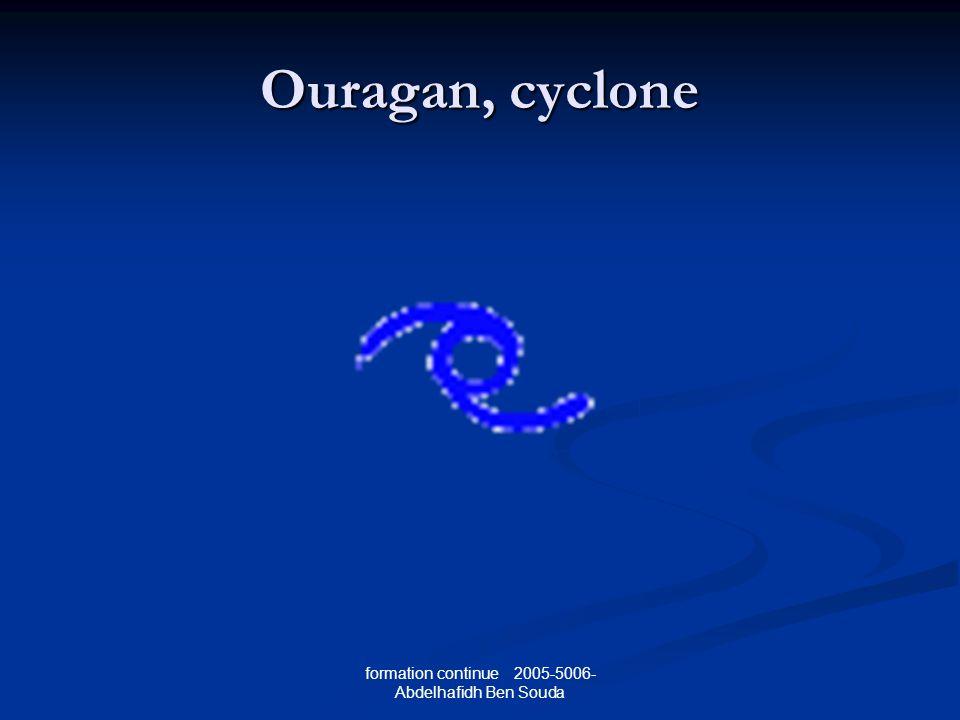 formation continue 2005-5006- Abdelhafidh Ben Souda Ouragan, cyclone