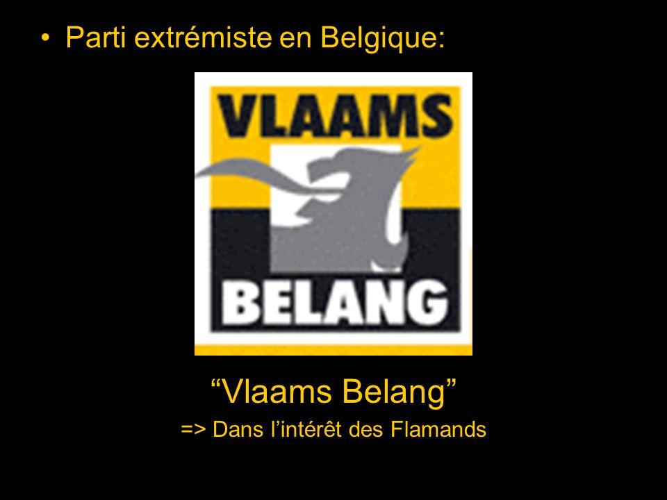 Parti qui dit vouloir protéger les intérêts des Flamands A été condamné pour être un parti raciste A été obligé de changer de nom