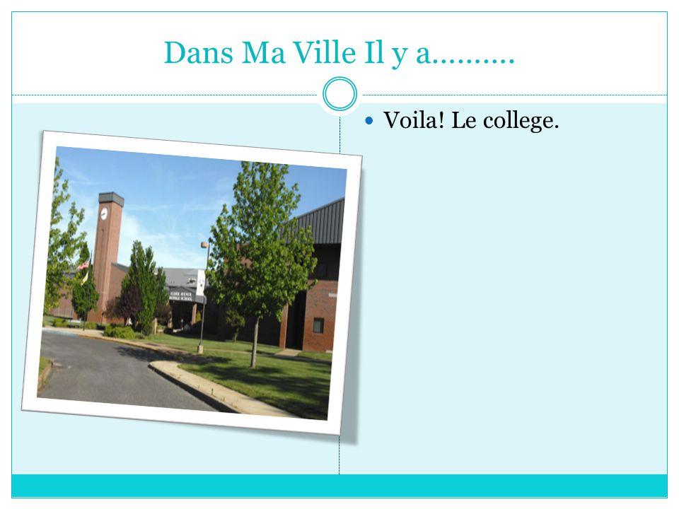 Dans Ma Ville Il y a………. Voila! Le college.