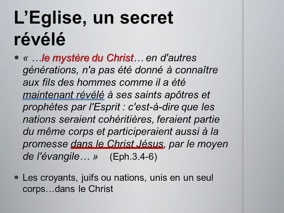 La valeur de lEglise pour Dieu: La valeur de lEglise pour Dieu: « l assemblée de Dieu, qu il a acquise par le sang de son propre Fils.