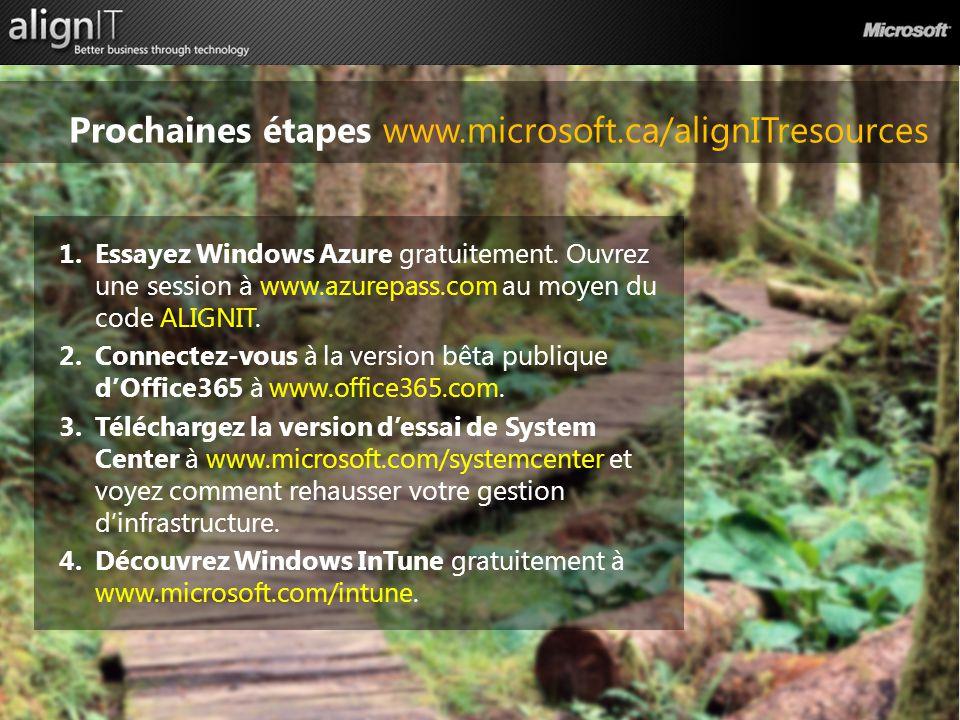 1.Essayez Windows Azure gratuitement.