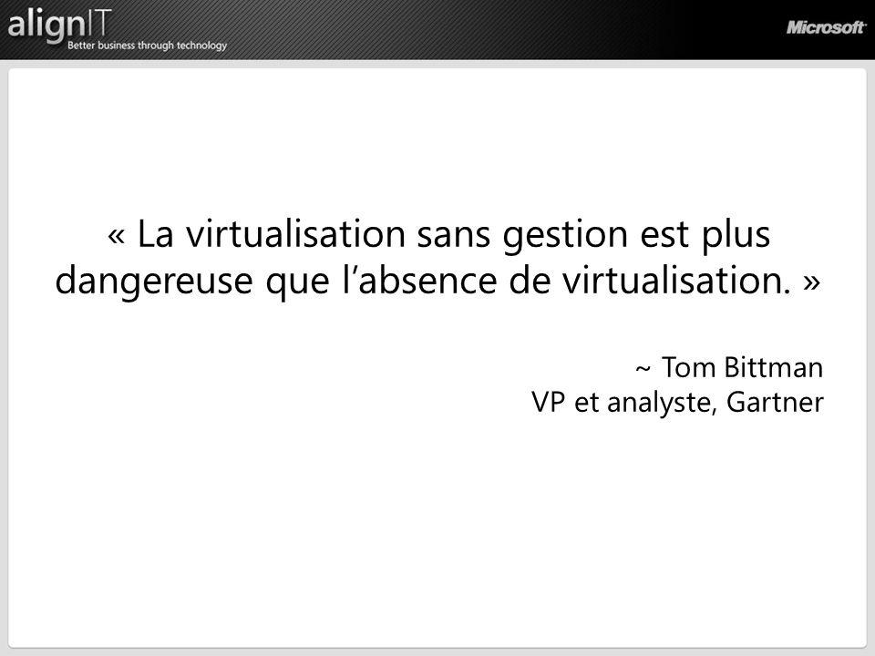 « La virtualisation sans gestion est plus dangereuse que labsence de virtualisation.