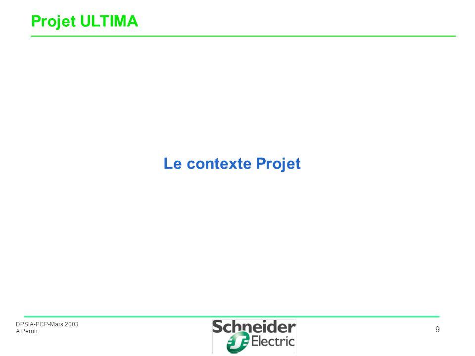 DPSIA-PCP-Mars 2003 A.Perrin 9 Le contexte Projet Projet ULTIMA ______________________________________________________________________________________
