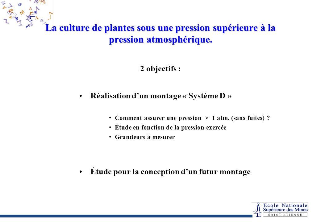 La culture de plantes sous une pression supérieure à la pression atmosphérique.