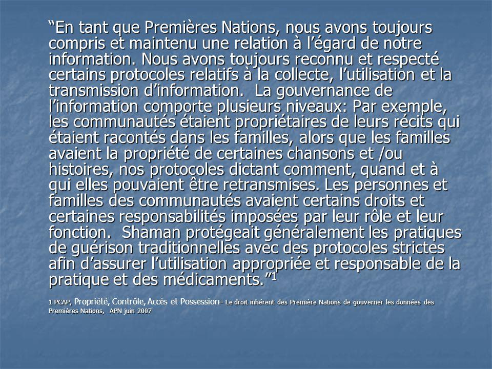 Origines de PCAP PCA fut créé en 1998 par Cathryn George, de lAssociation of Iroquois and Allied Indians lors dune réunion du comité directeur de lEnquête régionale longitudinale sur la santé des Premières Nations.