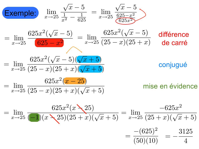 Exemple: mise en évidence conjugué différence de carré