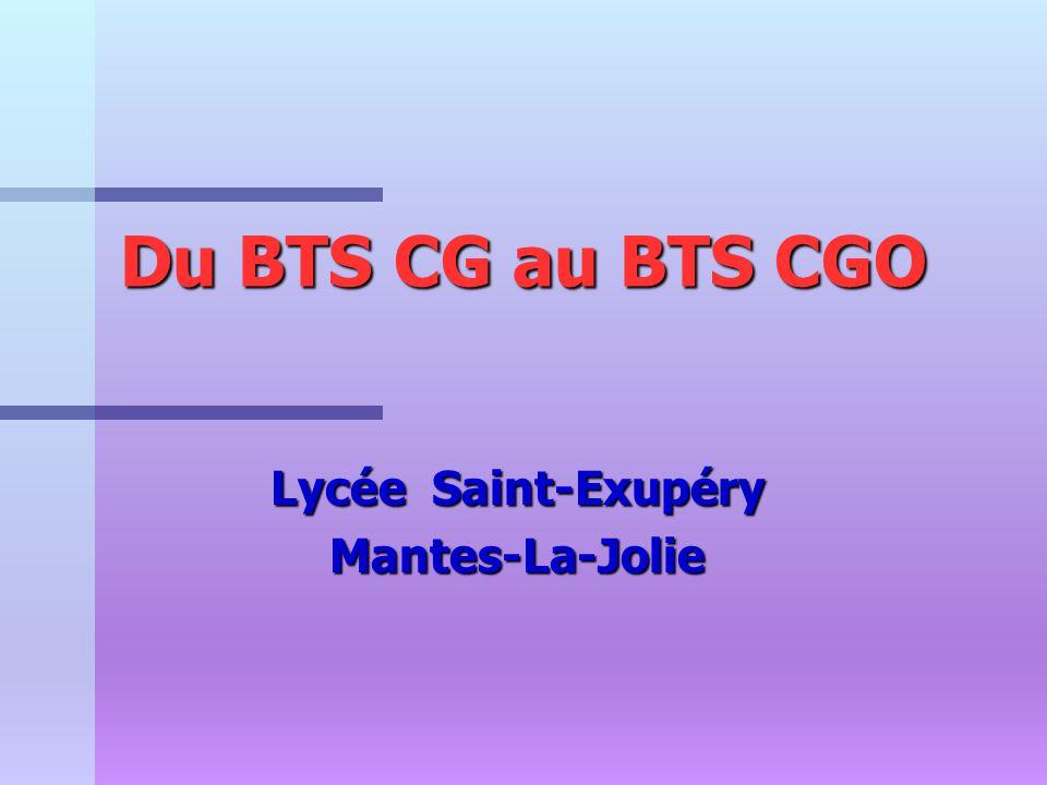 Du BTS CG au BTS CGO Lycée Saint-Exupéry Mantes-La-Jolie