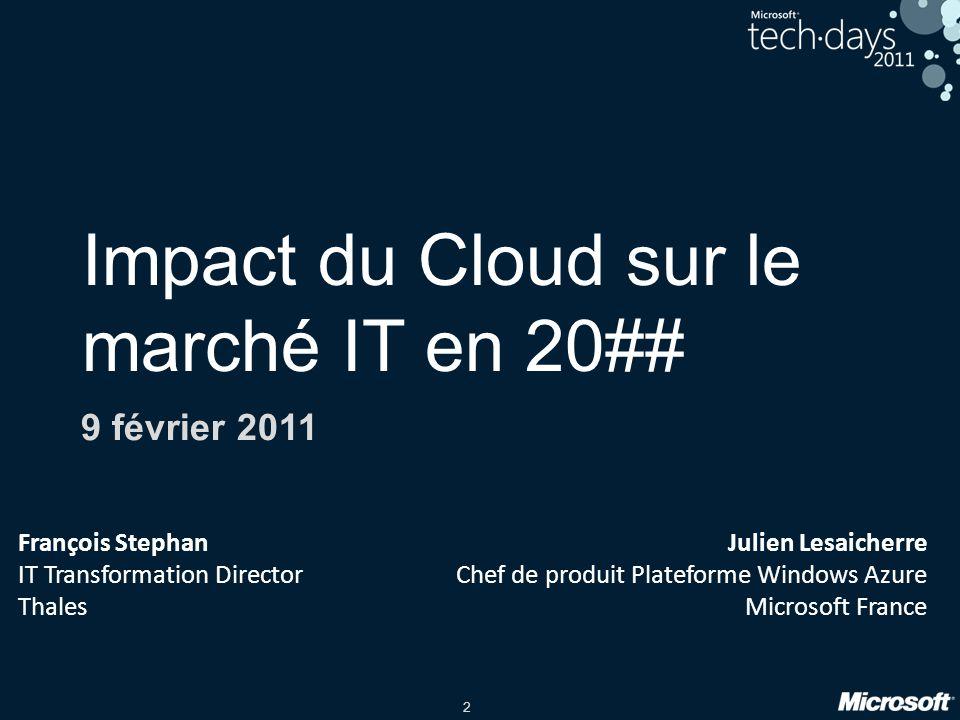3 Agenda Cloud Computing, de la définition à ladoption Un mouvement inéluctable.