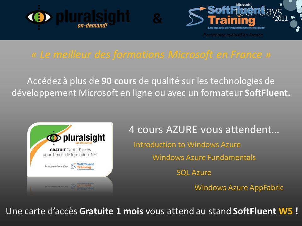 32 « Le meilleur des formations Microsoft en France » Accédez à plus de 90 cours de qualité sur les technologies de développement Microsoft en ligne o