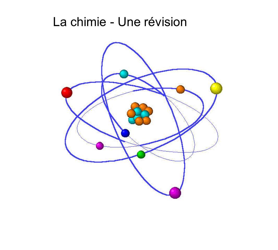 La chimie - Une révision