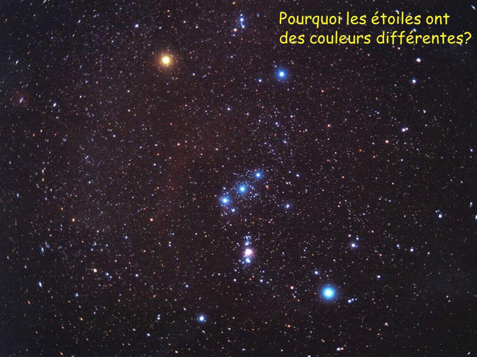 Pourquoi les étoiles ont des couleurs différentes?