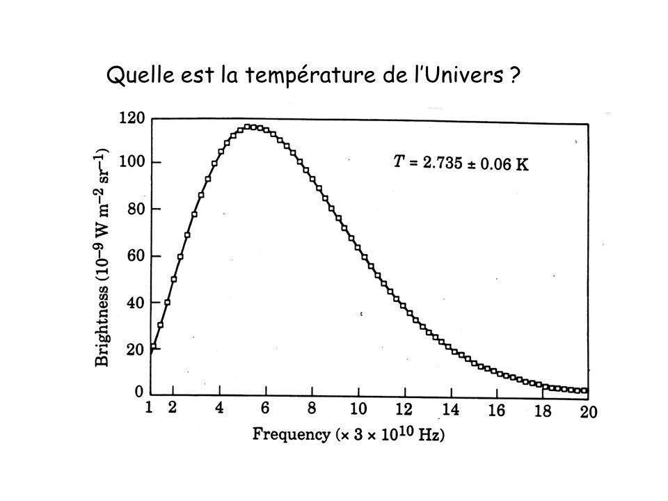 Quelle est la température de lUnivers ?