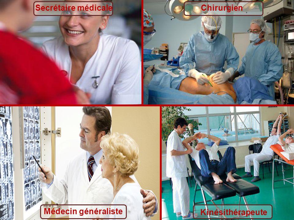 Secrétaire médicaleChirurgien Médecin généraliste Kinésithérapeute