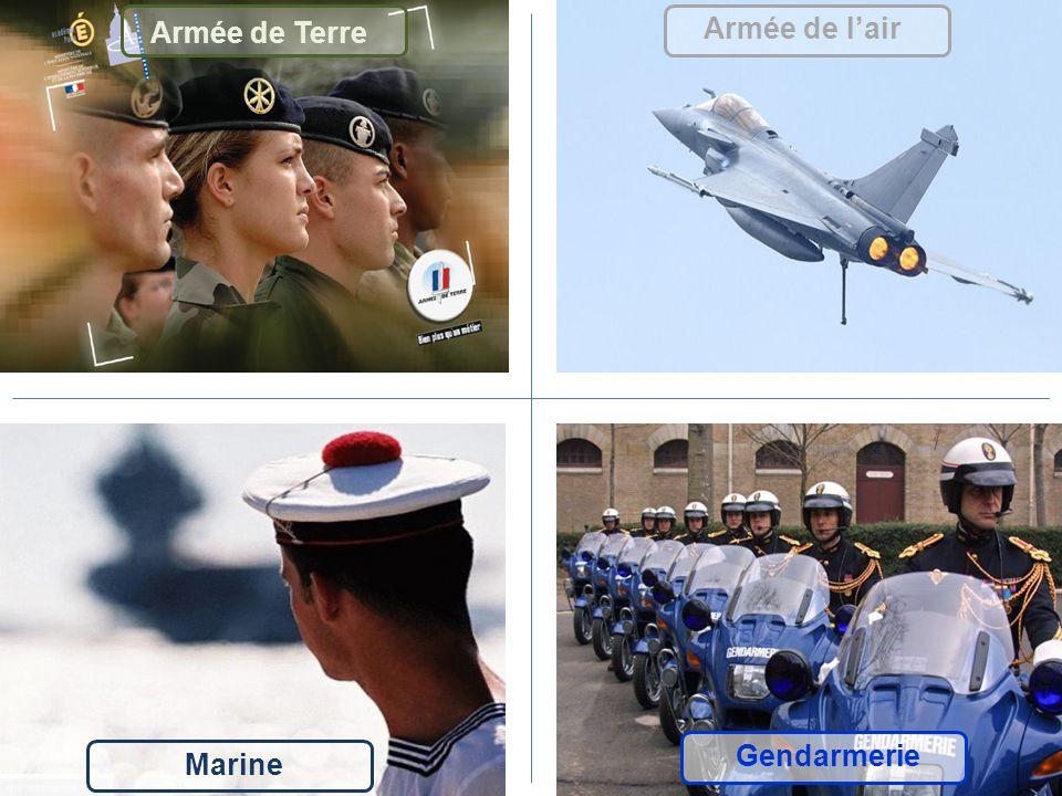Armée de Terre Armée de lair Marine Gendarmerie