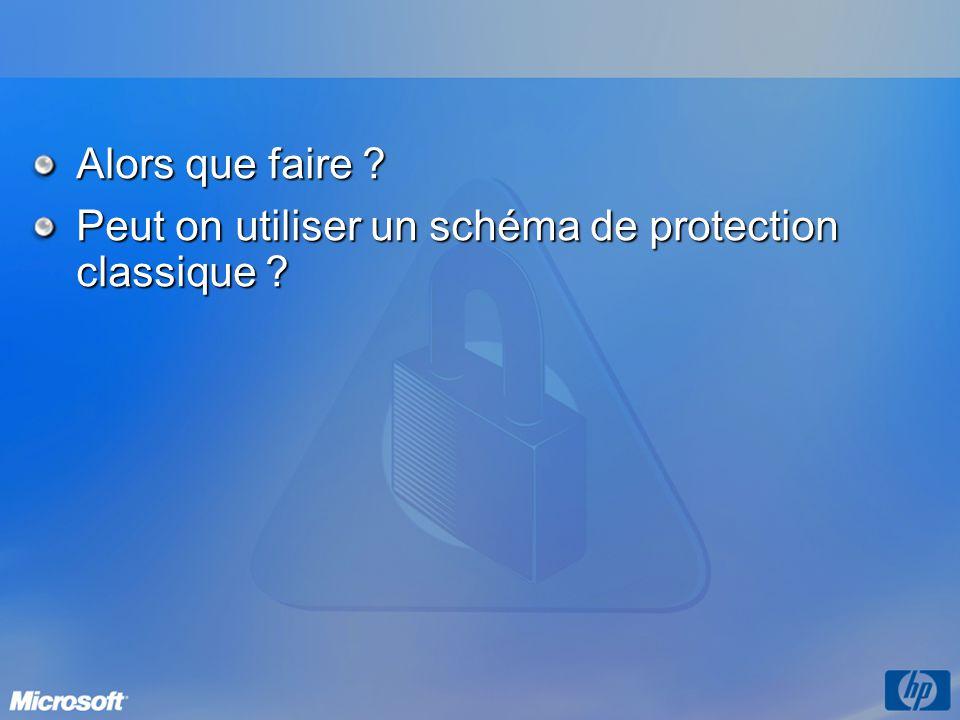 Alors que faire ? Peut on utiliser un schéma de protection classique ?