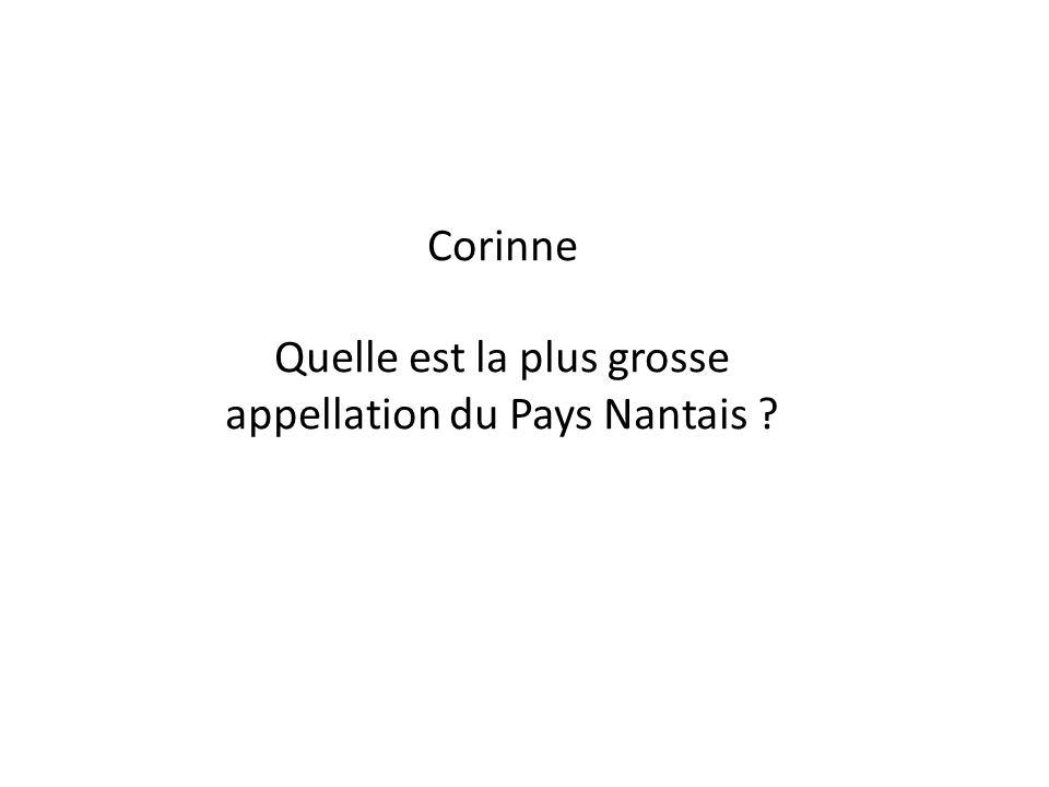 Corinne Quelle est la plus grosse appellation du Pays Nantais ?