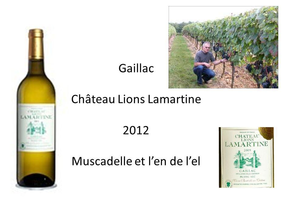 Gaillac Château Lions Lamartine 2012 Muscadelle et len de lel