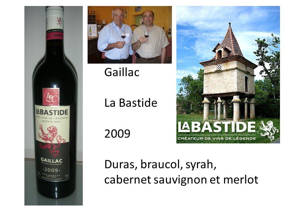 Gaillac La Bastide 2009 Duras, braucol, syrah, cabernet sauvignon et merlot