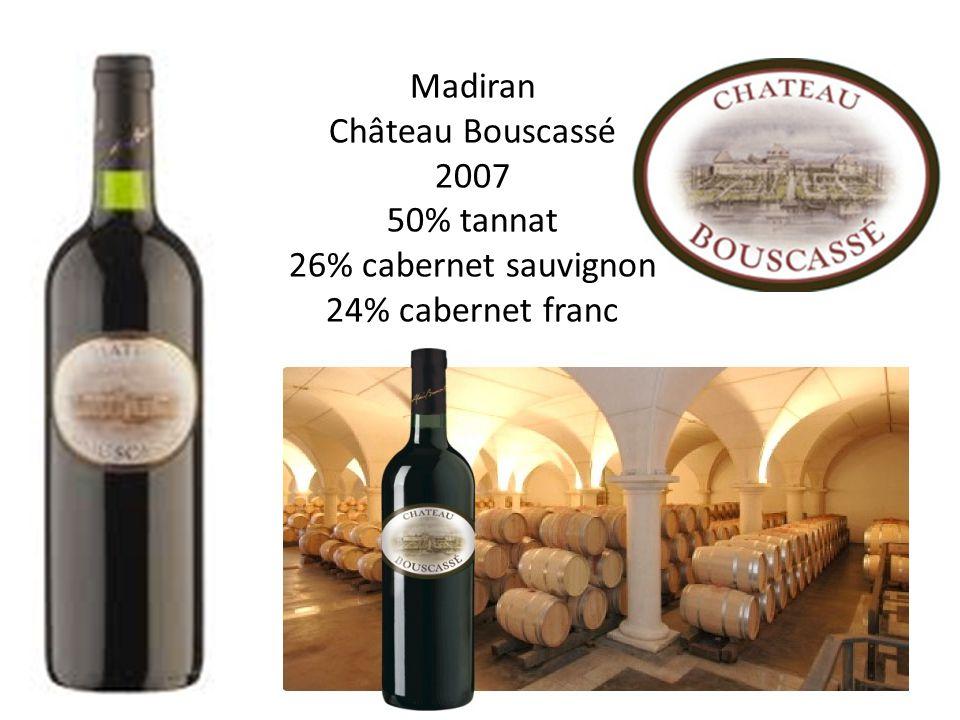 Madiran Château Bouscassé 2007 50% tannat 26% cabernet sauvignon 24% cabernet franc