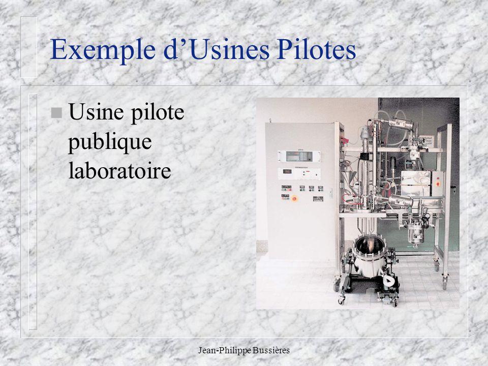 Jean-Philippe Bussières Exemple dUsines Pilotes n Usine pilote publique laboratoire